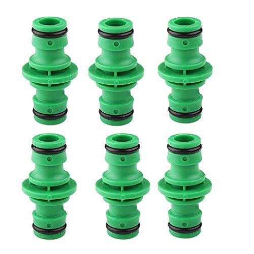 Efanty Doppelte Männliche Schlauchverbinder Wasser Schlauch Extender für verbinden Garten Schlauch Rohr Rohr (6 Stück, Grün)