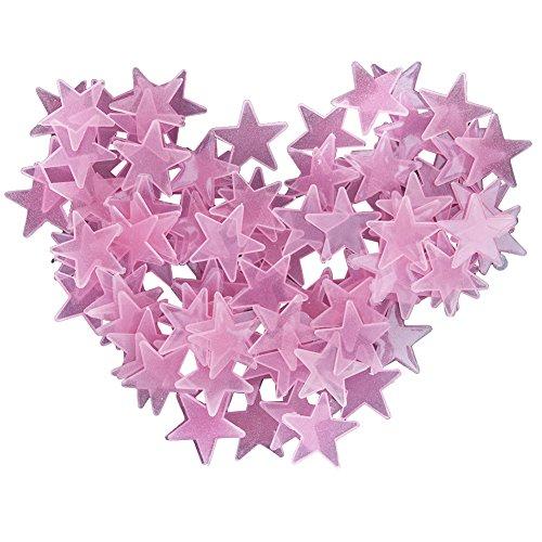 Bulary 50PCS Leuchtende Sterne im Dunkeln fluoreszierende Nachtleuchtende Kunststoff Wandaufkleber Abziehbilder für Haus Decke Wand dekorieren Baby Kinder Geschenk Kinderzimmer (Erwachsenen-schlafzimmer-wand-abziehbilder)