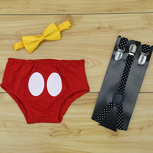 Baby Jungen Gürtel Kurze Unterhose Schleife Sets Strampler Outfit Party Foto Requisiten Sommer Kleidung Sets, Multi, 70 (0-3 Months) ()