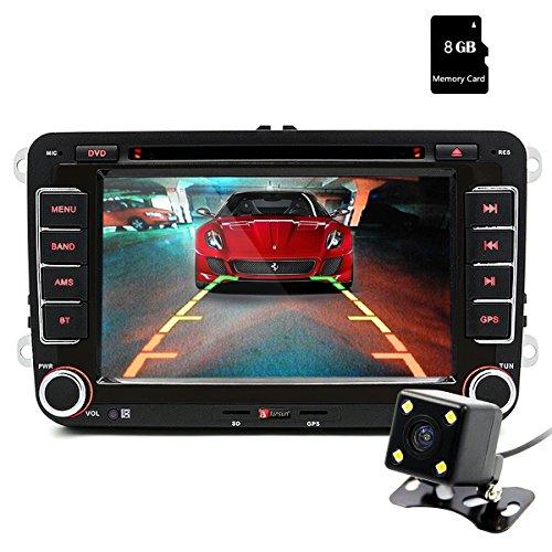 "Junsun 7"" Reproductor de DVD CD GPS Navegación Bluetooth Pantalla Táctil Radio 2 Din Estéreo para VW/Volkswagen/Passat/GOLF/Skoda/Seat Regalo Gratis Camara Visión Trasera"