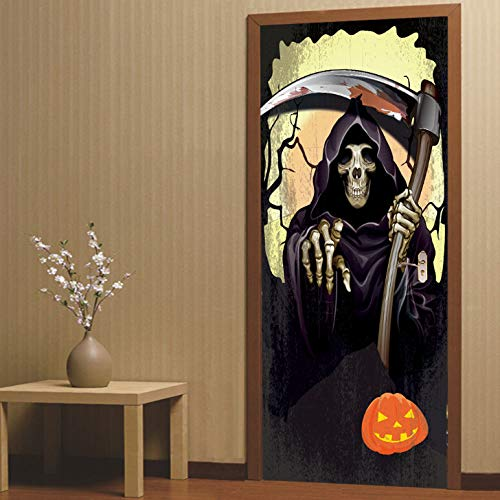 een kreative 3d Tür Aufkleber Persönlichkeit Holztür Hause dekorative Wandaufkleber ()