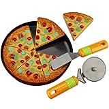 Pizza-Set mit Pizzaschneider oder -heber ca 14 cm Kunststoff