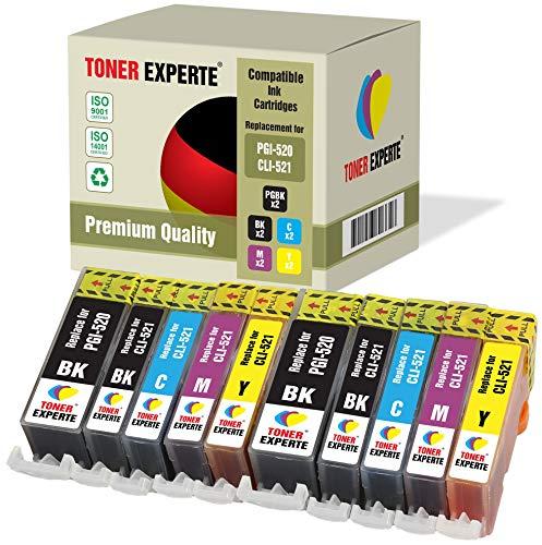 10 XL TONER EXPERTE® PGI-520 CLI-521 Druckerpatronen kompatibel für Canon Pixma iP3600 iP4600 iP4700 MP540 MP550 MP560 MP620 MP630 MP640 MP990 PGI-520BK CLI-521BK CLI-521C CLI-521M CLI-521Y