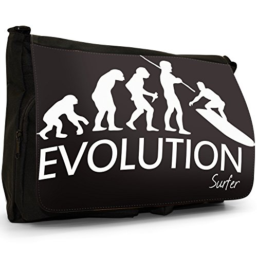 Fancy A Bag Borsa Messenger nero Evolution Of A Skier large Evolution Of A Surfer