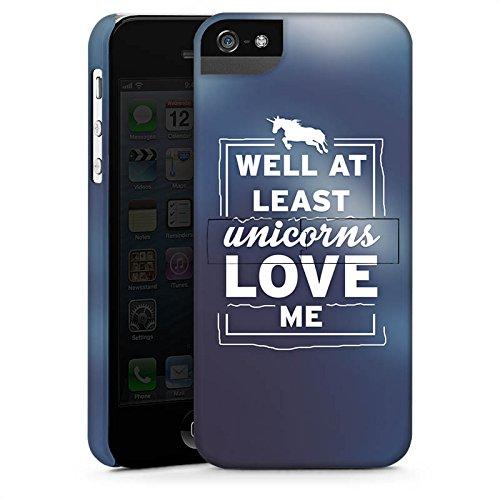 Apple iPhone X Silikon Hülle Case Schutzhülle Unicorn Einhorn Sprüche Premium Case StandUp
