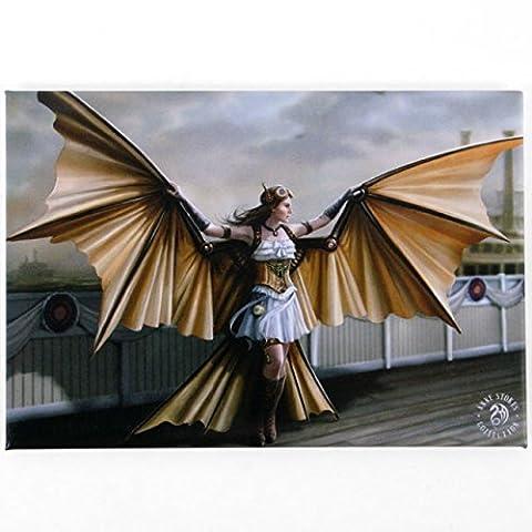 The Aviator - Anne Stokes Fridge Magnet - Steampunk