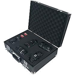 HMF 14501-02 Maletín para cámaras de fotos y accesorios, Maleta para Armas, Espuma Personalizable precortada, Aluminio, 46 x 16,5 x 36,5 cm