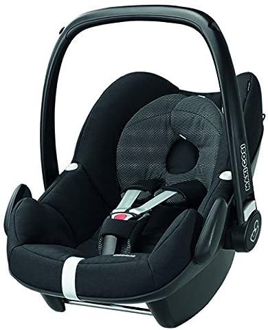 Maxi-Cosi Babyschale - Kinderautositz Gruppe 0+ (0-13 kg), schwarz, mit Isofix