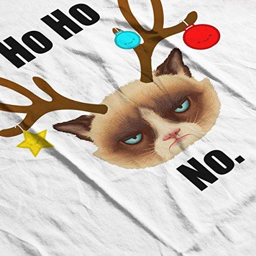 Ho Ho No Christmas Cat Black Women's Hooded Sweatshirt white