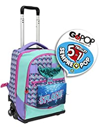 Giochi Preziosi Gopop 19 Trolley Spinner Sirena Sacca, 47 cm, Multicolore