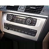 Für X3F252011–2017/X4F262014–17car-styling ABS matt chrom Center CD-Verkleidung Zubehör 3D Aufkleber 1PC