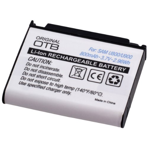 Akku, Ersatzakku mit 800mAh !!! für Samsung S3310 CLASSIC / S7330 / SGH-E950 / SGH-L170 / SGH-L770 / SGH-L810 / U800 Soul / U900 Soul mit Hohe Kapazität und ohne Memory-Effekt Li-Ion PDA-Punkt