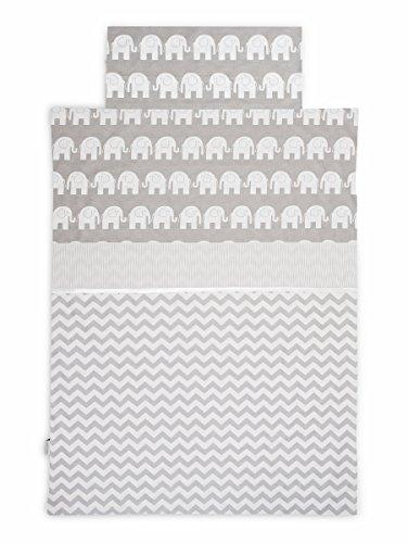 KempKids. Bettdecke und Kissenbezug Set, Größe: 100 x 135 cm, Baby Bettwäsche - Graue - Baby-krippe Bettwäsche-sets