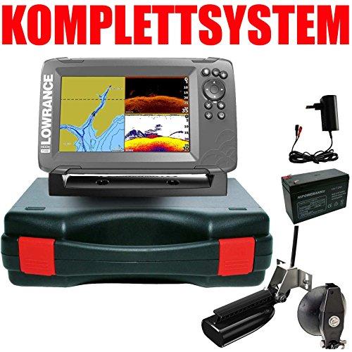 Lowrance Plotter Echolot Portabel Basic - Hook2 7 SplitShot HDI Chirp Combo GPS (Gps Lowrance Combo)