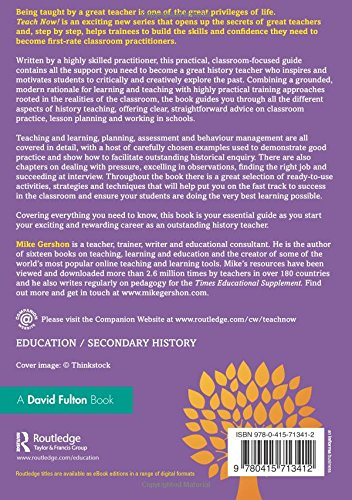 Teach Now! History: Becoming a Great History Teacher