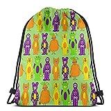 "best pillow Costumes In Green Background_7046 3D Print Drawstring Backpack Rucksack Shoulder Bags Gym Bag for Adult 16.9""x14"""