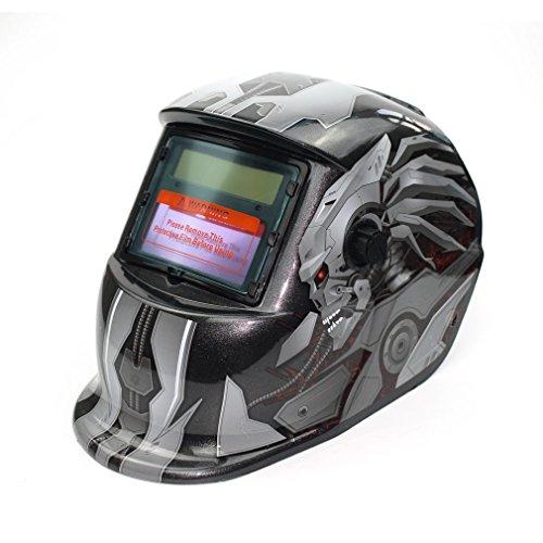 Leoboone solarbetriebene Auto Verdunkelung TIG MIG MMA Elektroschweißmaske Helm Schweißer Cap-Objektiv für Schweissmaschine Plasmaschneider - Schweißer-cap