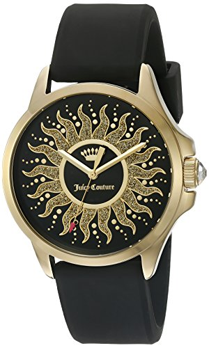 Juicy Couture 1901429 - Reloj de Pulsera Mujer, Silicona, Color Negro