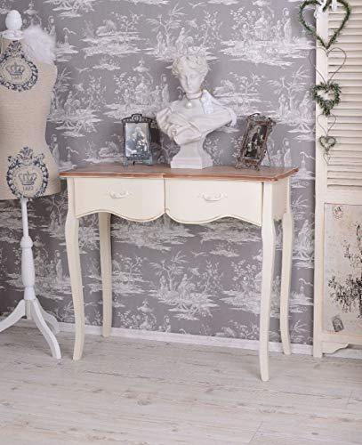 Konsole, Konsolentisch, Schreibtisch, Tisch, Wandkonsole im angesagten Shabby-Chic-Stil in vespielter Optik aus Holz gefertigt - Palazzo Exclusive -