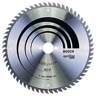 Bosch Professional Zubehör 2608640729 Kreissägeblatt Optiline Wood 250 x 30 x 3,2 mm, 60