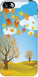 Snoogg Autumn Background Vector Designer Case Cover For Apple Iphone 5C / 5C