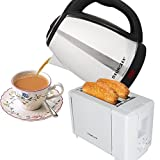 Eurolex Super Saver Breakfast Combo Of 1.8 Litre Electric Kettle And 2 Slice Pop Up Toaster (White)