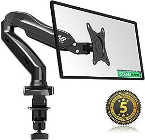 Support design professionnel NB F80 pour écrans PC LCD / TFT/ LED 43-58cm. Réglage dans plusieurs axes, pivot, qualité supérieure. Verin a gaz.
