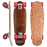 Revon Kork Cruiser Skateboard mit kick Tail, Komplettboard aus hochwertigen 7 Layer Canadian Maple mit ABEC9 Kugellager