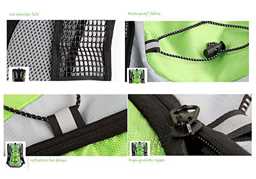 Trink Radfahren Rucksack-Pack mit einem 2 l Wasser-Beutel, Gutaussehend Design und haltbaren Stoff Material, iParaAiluRy Schwarz