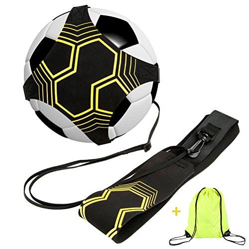 Solo-verstellbare Bügel (Fußball / Fußball Kick / Throw Trainer Solo Praxis Training Aid Control Fähigkeiten Verstellbare Taille Gürtel für Kinder Erwachsene)