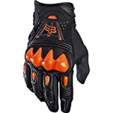 Bomber Fox Racing Mountain Bike Gloves - Motorrad MTB Handschuhe Herren Damen, Schwarz/Orange, M