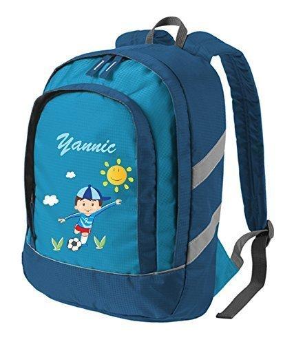 Mein Zwergenland Kinderrucksack Bicolor mit Namen & Wunschmotiv, 6 L, Blau
