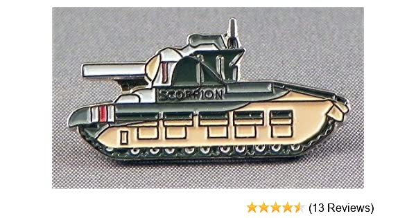 British Army Tank pin badge choose from Scorpion and Challenger Lapel badges