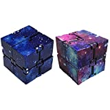 Ritte Cubo Infinito, Cube Descompresión Juguete Creativo Bolsillo Cuadrado Que Lleva Dimensional Cube Adultos Regalos para Niños Regalos Navideños, Serie Estrellada