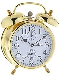 Atlanta - 1058-9 - Montre Double réveil de cloche - Analogique avec des aiguilles lumineuses - doré