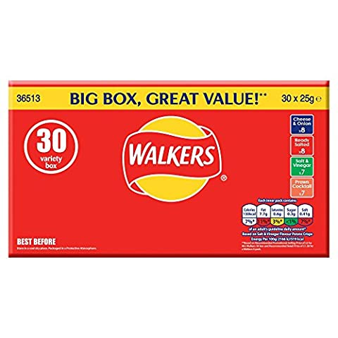 Walkers Crisps Variety Value Box (Pack of 30)