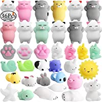 Outee 36 Pcs Mini Squishy Mochi Squishy Cat Toys Mochi Animal Cat Squishy Stress Relief Animals Squihsy Squeeze Stress Cat Toys Mochi Squeeze Squishy Random
