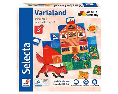 Selecta 62057 Varialand, Legespiel aus Holz, 80 Teile
