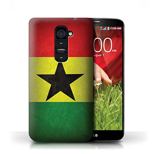 Kobalt® Imprimé Etui / Coque pour LG G2 / Portugal/portugais conception / Série Drapeau Ghana