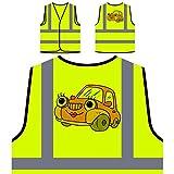 Voitures de voitures Vintage Meilleur dessin animé drôle Veste de protection jaune personnalisée à haute visibilité a975v