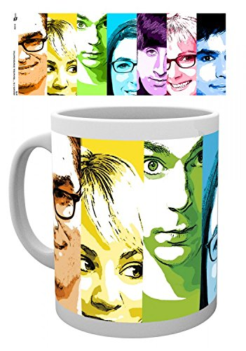 1art1 The Big Bang Theory, Rainbow Tasse À Café Mug (9x8 cm) + 1x Sticker Surprise