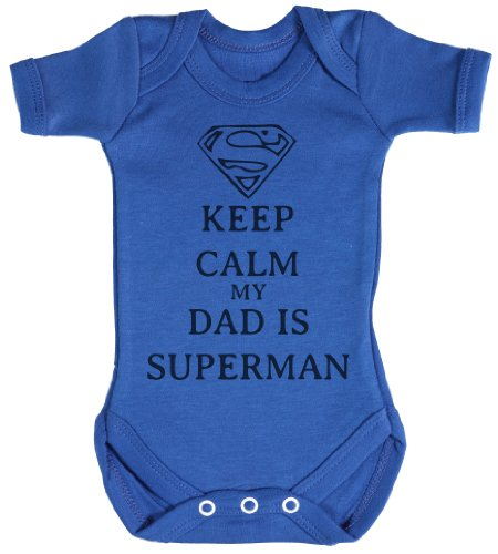 TRS - Calm Dad Is Superman regalo para bebé, body para bebé niño, b