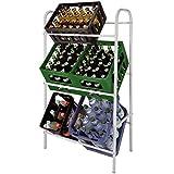 Kistenregal Weiß Getränkekistenregal Kastenregal Flaschenkastenregal Getränkekistenständer Kastenständer für 6 Kästen