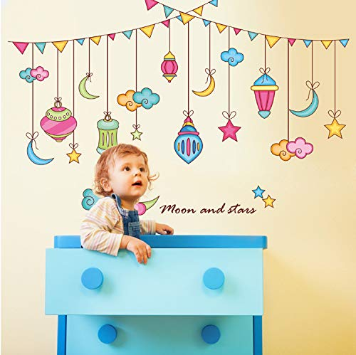 Attrayant GBICjdojf New Wall Stickers Decorative Stencil Wall Designs Stars Moon  Stickers Decorative Creative Wall Stickers