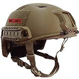 OneTigris BJ Mode Leichtbau Taktische Schnelle Helm für Softair Paintball Jagd (Khaki)