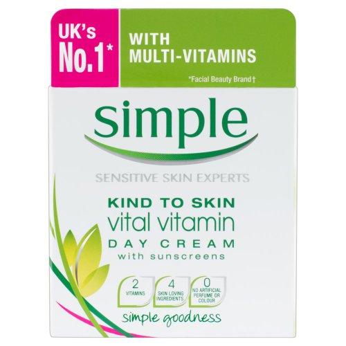 Einfache Hautfreundlich Vital Vitamin Tagescreme mit Sonnenschutz 50ml [Körperpflege] -