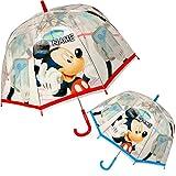 alles-meine GmbH Kinderschirm -  Disney Cars / Auto - Lightning McQueen  - inkl. Name - Regenschirm Ø 70 cm / durchsichtig & durchscheinend - transparent - Kinder - groß STO..