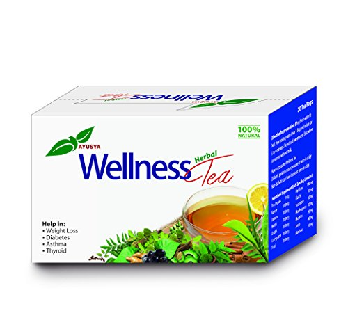 Ayusya Wellness Herbal Tea effective for Weight Loss and Health benefits, 20 tea bags  available at amazon for Rs.120