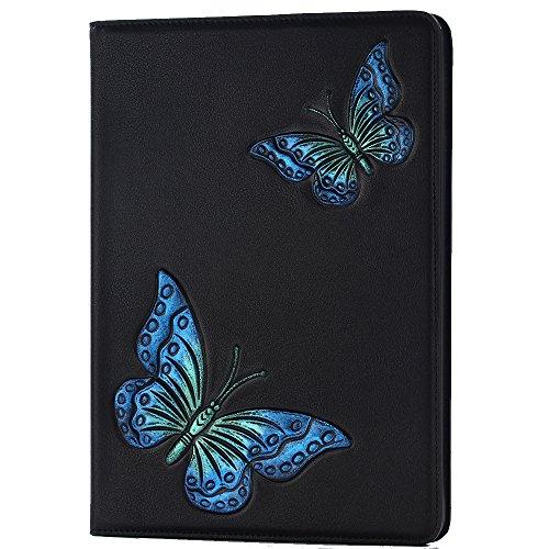 iPad Pro 9.7 Smart Cover, TechCode Billion 3D-Funkeln PU Leder Schlag Abdeckungs Shell Buch Art Folio Kasten Standplatz Schützende Tasche mit Kartenhalter für 9,7 Zoll iPad Pro 9.7 (iPad Pro 9.7, A04) (Futon Leder)