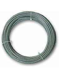 Chapuis CCG320 Cable revestido de PVC - Acero galvanizado - 67 kg - Diámetro 2,5/3,5 mm - Largo 20 m
